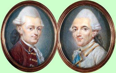 Жозеф (слева) и Этьен Монгольфье (Joseph-Michel [left], 1740–1810 & Jacques-Étienne Montgolfier, 1745–1799)